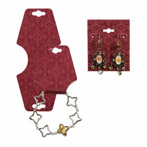 Earring Card Necklace Foldover Set Exotic Brick