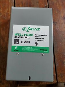 Brand New 85 Well Pump Control Box Zoeller 230v 3 Wire Plus Ground Controller