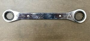 Snap on Tools Usa 3 4 X 7 8 Sae 0 Offset Flat Ratcheting Box Wrench R2428c