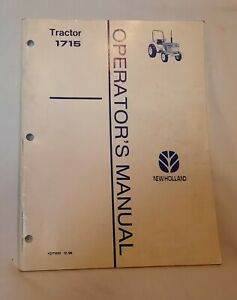 Ford New Holland 1715 Tractor Operators Manual