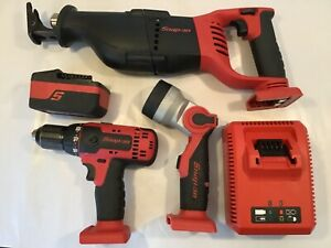Snap On Monsterlithium 18v Kit reciprocating Saw drill flashight battery charger