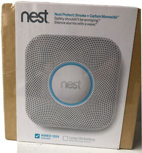 Google Nest S1001lw Smoke And Carbon Monoxide Alarm wired 120v White