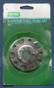 RCBS 5 Station Shell Plate #27 88827 NOS in package 357 Sig 40 10 $72.99