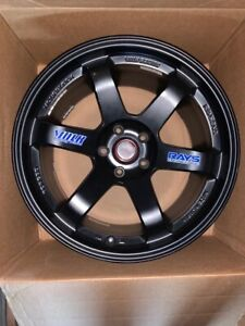 Volks Rays Te37 Og 5x114 3 Jdm Forged Authentic 18x10 5 22 Black