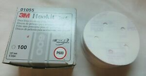 New 3m Finishing Film Discs Hookit 5 Inch P600 Grit 100 Discs 01055