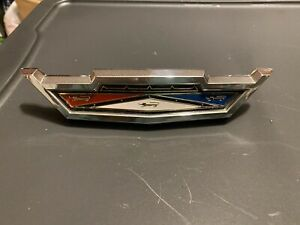 1963 Ford Galaxie 500 Xl Front Grill Emblem Hood Release Handle New Insert