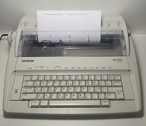 Like New Brother Model Ml100 Standard Electric Typewriter New Extras Look