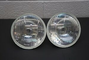H4 Headlights Pair 5 75 146mm Round Sealed Conversion Kit E code High low Beam