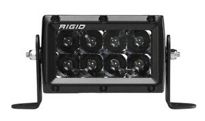 Rigid Industries 104213b E Series Pro Midnight Edition Spot 4 Led Light Bar