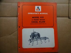 Allis Chalmers Model 610 Chisel Plow 3 Point Hitch Operators Manual 4 69