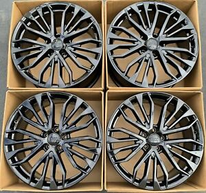 20 Audi A6 S6 Oem Factory Wheels Rims Gloss Black 58974 2017 2018 4g0601025be