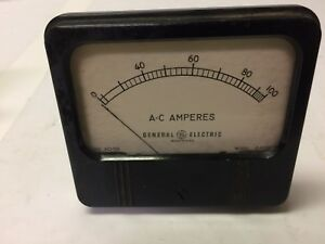 General Electric 4 5 Panel Meter 0 100 A c Amperes Model Ahv4 8 Type Ao 58