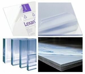 Clear Polycarbonate Sheet Lexan Vacuum Forming 24 X 48 1 4 6 Mm
