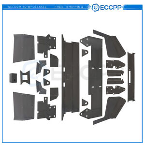 Eccpp For 84 01 Jeep Cherokee Front And Rear Bumper Bare Kit Winch Mount