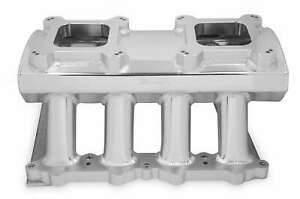Sniper Hi Ram Carbureted Intake Manifold Dual Quad Silver For 11 14 Ford 5 0l