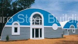 Durospan Steel 52x70x18 Metal Quonset Hut Diy Home Building Kit Open Ends Direct