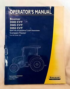 New Holland Boomer 3040 3045 3050 Cvt Compact Tractor Operators Manual