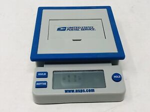 Usps Postal Service 10 Lb Digital Shipping Scale Blue Gray Tested And Works