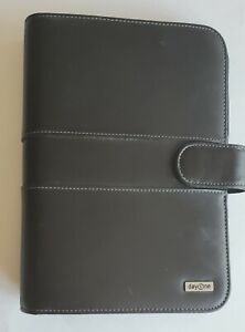 Franklin Covey Day One Planner Organizer Classic Size Faux Leather Black