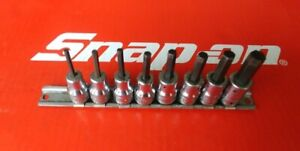 Snap On Tools 3 8 Drive 8 Pc Sae Hex allen Bit Socket Set 208efay 1 8 3 8
