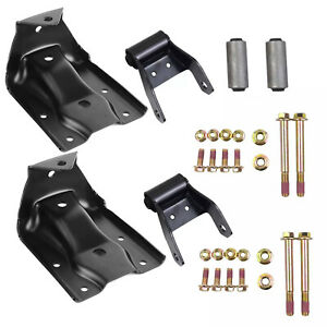 Rear Leaf Spring Hanger Bracket And Shackle Kit For Chevy Silverado Gmc Sierra Fits More Than One Vehicle