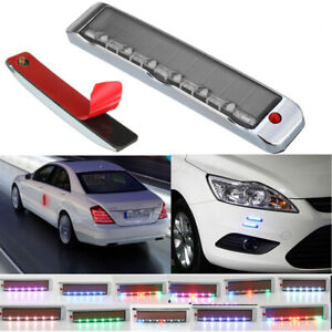 Car Rgb Led Solar Remote Alarm Warning Strobe Flash Light Anti Theft Security