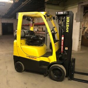 2016 Hyster S50ft 5000lbs Used Forklift W quad Mast Sideshift Lp Gas