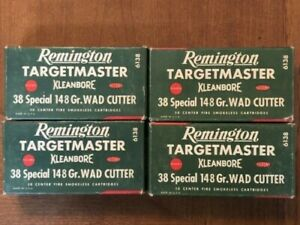 4 Vintage Empty REMINGTON Targetmaster 38 Special Kleanbore Shell Box wad cutter $24.00