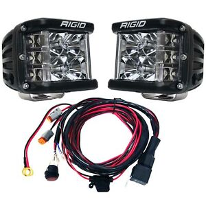 Rigid Industries D Ss Pro Flood Led Light Pods Pair With Harness