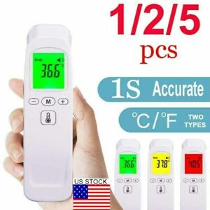 Non contact Forehead Thermometer Lcd Digital Infrared Thermometer Fever Alarm