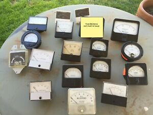 Lot Of 17 Analog Panel Meters Amp Current Pointer Needle Ammeter All Working