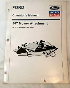 New Holland Ford 38 Inches Mower For 12 Hydrostatic Tractor Operators Manual