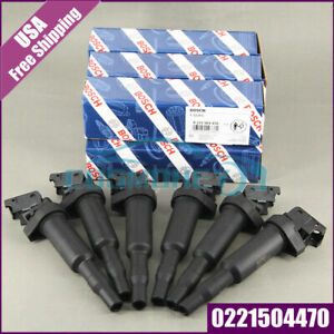 0221504470 Bosch For Bmw Ignition Coil Updated W Connector Boot Genuine New Us
