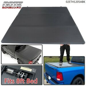 Fits For 1999 2016 F250 F350 Super Duty 8ft Long Bed Hard Tri Fold Tonneau Cover