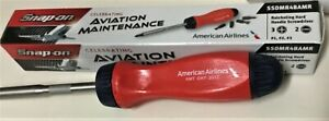 New Snap On Ratcheting Screwdriver American Airlines Red Blue New In Box Rare