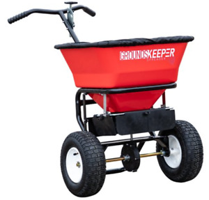 Buyers Products 3039632r Grounds Keeper Salt Spreader 100 Pound Capacity Red