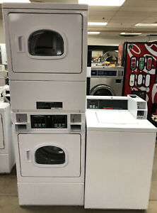 Speed Queen Commercial Top Load Washer Double Stack Gas Dryer Coin Set