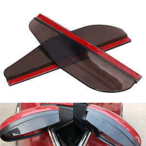 Black Rear View Side Mirror Rain Board Eyebrow Guard Sun Visor Car Accessories S
