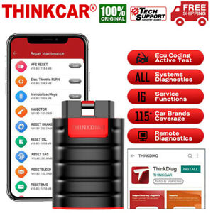 Thinkcar Thinkdiag Car Obd2 Scanner Bidirectional Diagnostic Tool Ecu Key Coding