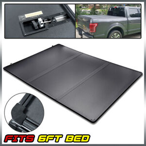 Fit For 16 2021 Toyota Tacoma Lock Hard Tri Fold Tonneau Cover 6ft 72 Short Bed