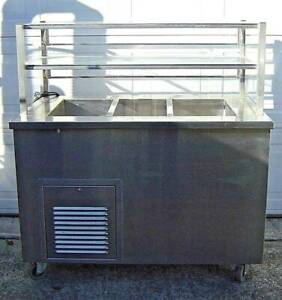 Commercial Refrigerator Salad Bar Cold Food Buffet Cooler With Sneeze Guard