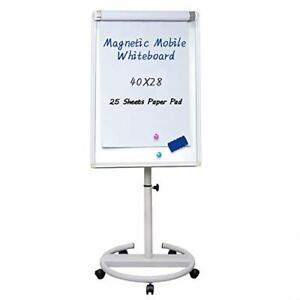 Mobile Dry Erase Board 40x28 Inches Magnetic Portable Whiteboard Stand Easel W