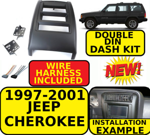 1997 2001 Jeep Cherokee Double Din Car Radio Stereo Installation Dash Kit