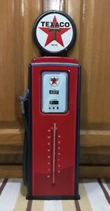Texaco Gas Pump Thermometer Metal Vintage Style Motor Oil Fire Chief