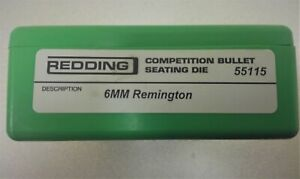 Redding Competition Micrometer Seating Die 6mm Remington 55115 With RCBS FL Set $119.99