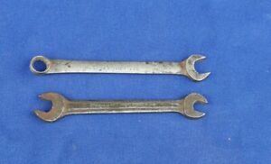 Lot 2 Vintage Blue Point Box And Open Wrenches Supreme Oex 120
