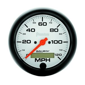 Autometer 5887 Electrical Phantom Speedometer Gauge 120mph