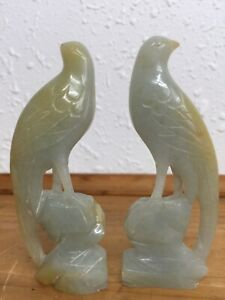 Antique Chinese Qing Dynasty A Pair Of Jade Birds China Aac Treasure