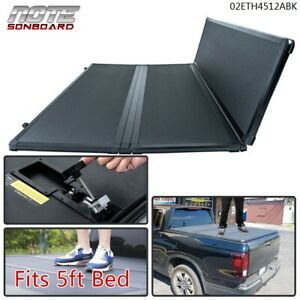 5ft 3 Fold Hard Tonneau Cover Fit For 04 14 Chevy Colorado Gmc Canyon Short Bed
