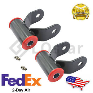 Pair 2 Drop Shackle Lowering Shackles Leveling Kit Fits 02 08 Dodge Ram 1500 2wd